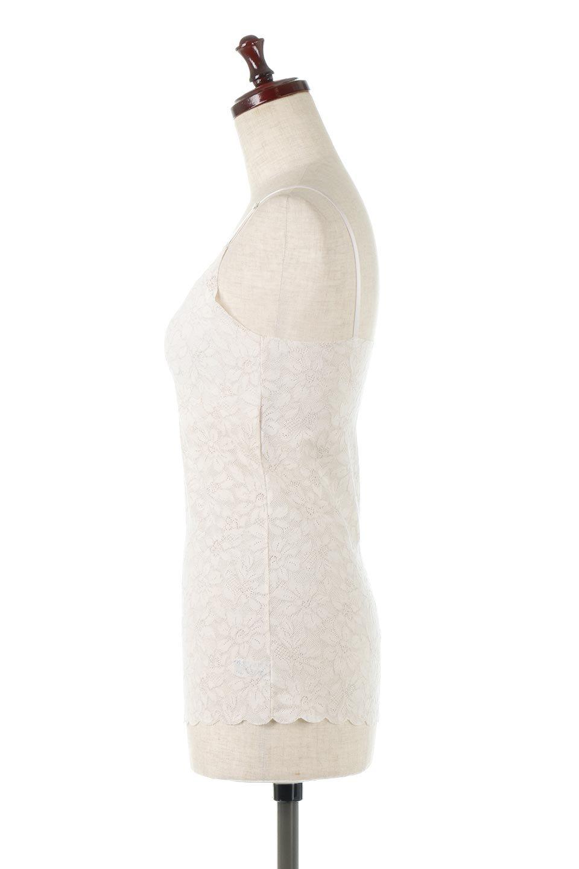 LacyAirPaddedCamisoleレーシーエア・パッド付きキャミソール大人カジュアルに最適な海外ファッションのothers(その他インポートアイテム)のトップスやカットソー。レースなのにチクチクしにくい。やわらかくてアウターにひびきにくいヌーディカットの総レースキャミソール。/main-7