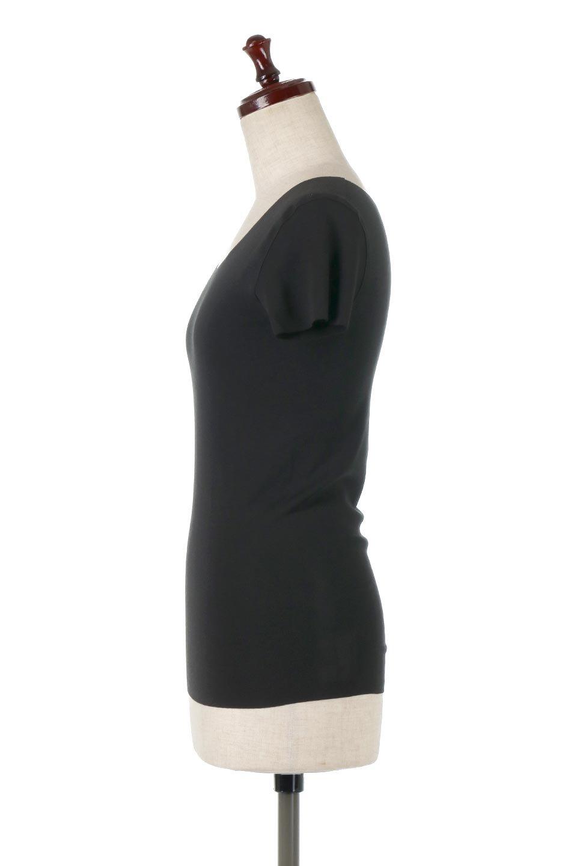 SeamlessFittedTShirts完全無縫製・なめらかフィットインナー大人カジュアルに最適な海外ファッションのothers(その他インポートアイテム)のトップスやカットソー。縫い目がないハイストレッチのなめらか素材を使用した半袖インナー。縫い目によるチクチクやかゆみを軽減させたシームレス仕様です。/main-12
