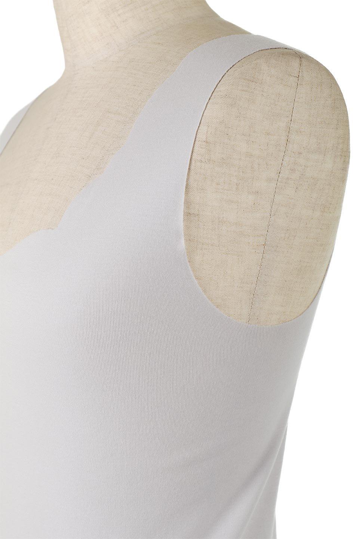 SeamlessScallopHemTankTop完全無縫製・スカラップタンクトップ大人カジュアルに最適な海外ファッションのothers(その他インポートアイテム)のトップスやカットソー。縫い目がないハイストレッチのなめらか素材を使用したタンクトップ。縫い目によるチクチクやかゆみを軽減させたシームレス仕様です。/main-24