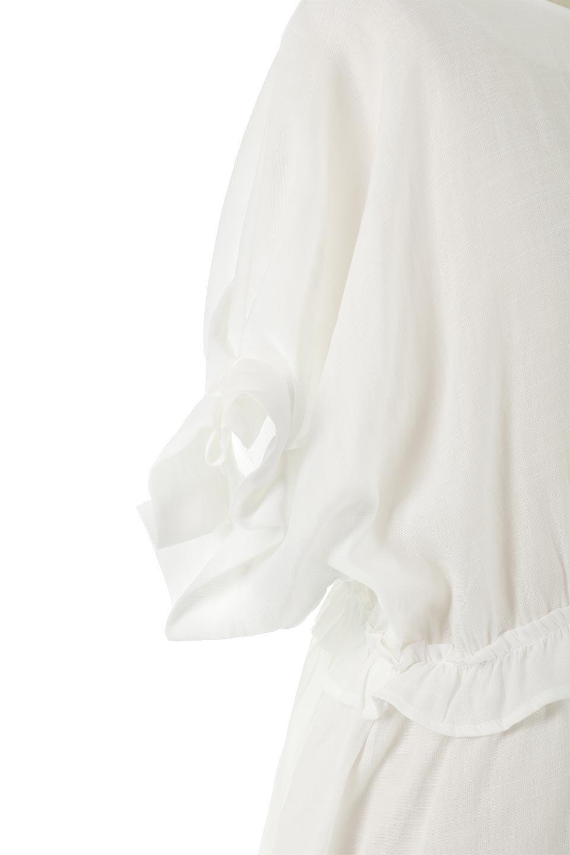 WaistFrilledTackSleeveBlouseタックスリーブ・ウエストフリルブラウス大人カジュアルに最適な海外ファッションのothers(その他インポートアイテム)のトップスやシャツ・ブラウス。摘んだようなタック袖と、ウエストにフリルをあしらった半袖ブラウス。立体的なペプラムシルエットを楽しめます。/main-13