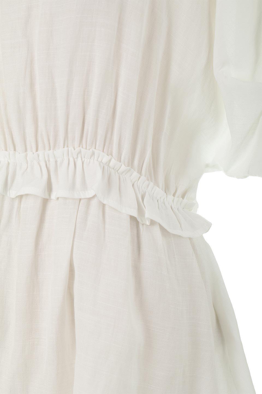 WaistFrilledTackSleeveBlouseタックスリーブ・ウエストフリルブラウス大人カジュアルに最適な海外ファッションのothers(その他インポートアイテム)のトップスやシャツ・ブラウス。摘んだようなタック袖と、ウエストにフリルをあしらった半袖ブラウス。立体的なペプラムシルエットを楽しめます。/main-14