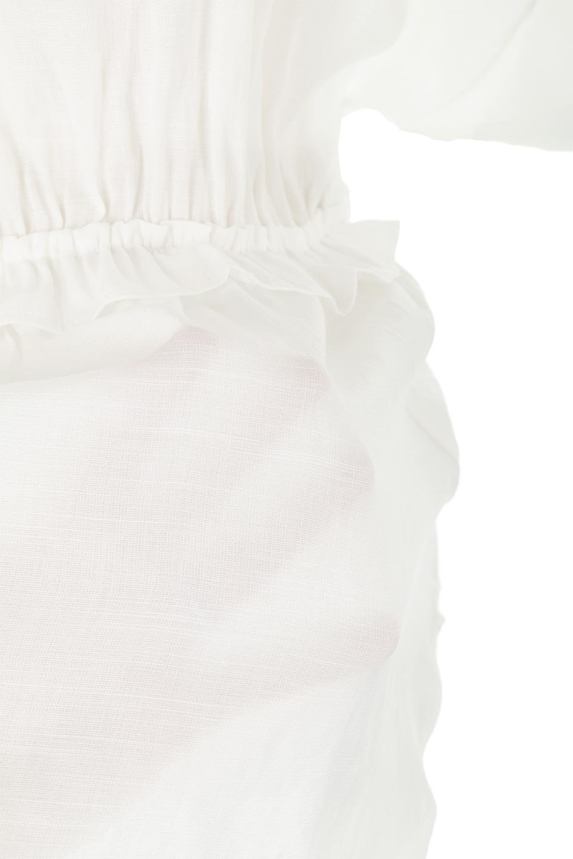WaistFrilledTackSleeveBlouseタックスリーブ・ウエストフリルブラウス大人カジュアルに最適な海外ファッションのothers(その他インポートアイテム)のトップスやシャツ・ブラウス。摘んだようなタック袖と、ウエストにフリルをあしらった半袖ブラウス。立体的なペプラムシルエットを楽しめます。/main-16