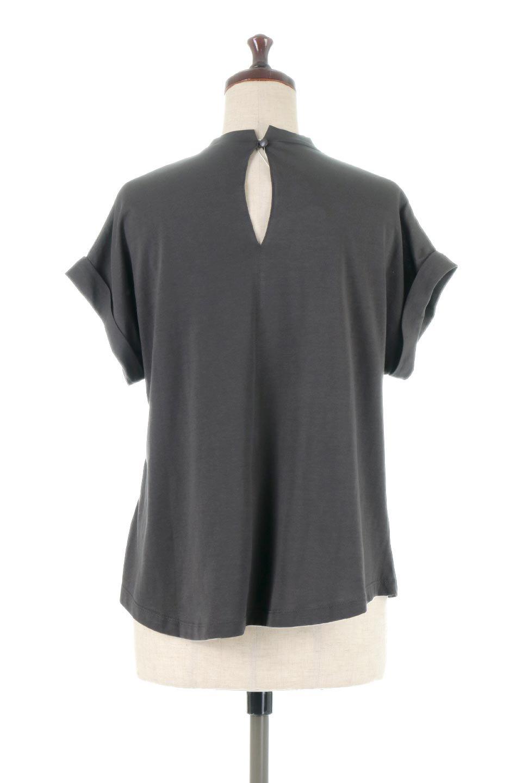 AsymmetricalSlittedTopアシメントリー・スリットトップス大人カジュアルに最適な海外ファッションのothers(その他インポートアイテム)のトップスやカットソー。スリット入りのアシメントリーデザインが可愛い半袖トップス。背中のボタンや袖の折返しなど、ちょっとしたアクセントが入ったトップスです。/main-14