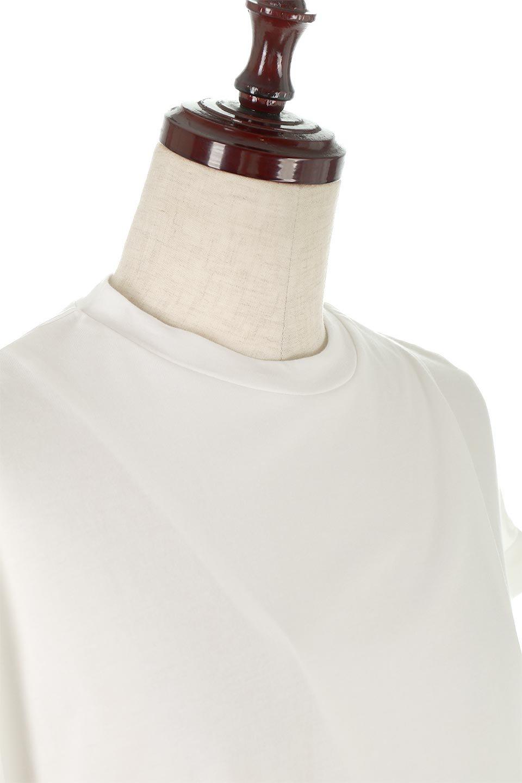 AsymmetricalSlittedTopアシメントリー・スリットトップス大人カジュアルに最適な海外ファッションのothers(その他インポートアイテム)のトップスやカットソー。スリット入りのアシメントリーデザインが可愛い半袖トップス。背中のボタンや袖の折返しなど、ちょっとしたアクセントが入ったトップスです。/main-15