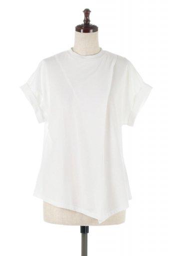 海外ファッションや大人カジュアルに最適なインポートセレクトアイテムのAsymmetrical Slitted Top アシメントリー・スリットトップス