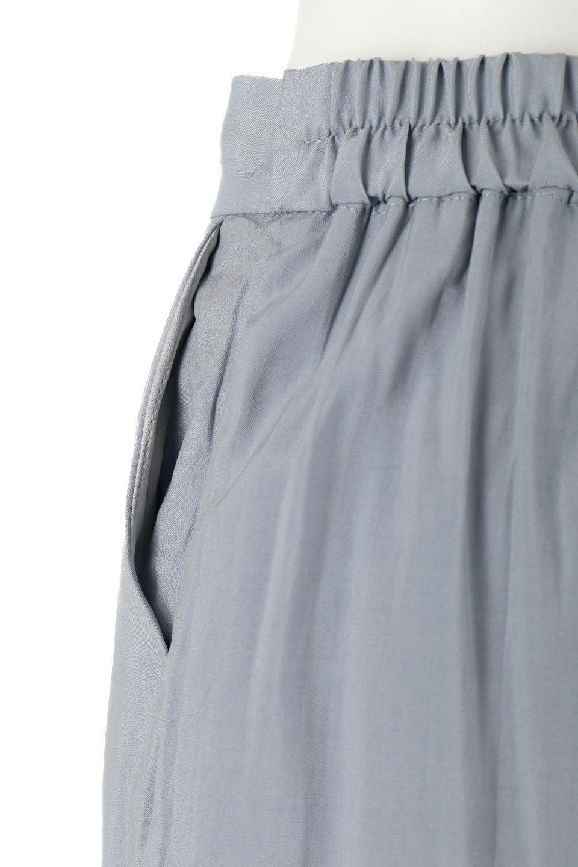 SoftTwillCroppedFlarePantsソフトツイル・フレアパンツ大人カジュアルに最適な海外ファッションのothers(その他インポートアイテム)のボトムやパンツ。サラサラの生地が涼しげなクロップドワイドパンツ。若干透け感のある素材ですが、同色のサテンの裏地付きなので安心です。/main-16
