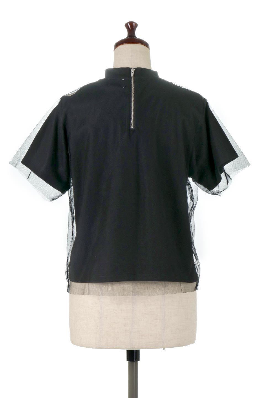 Slit-In-ShoulderFauxLayeredTop肩スリット・チュールレイヤードTシャツ大人カジュアルに最適な海外ファッションのothers(その他インポートアイテム)のトップスやカットソー。チュール×スリットを施した今年らしいトップス。肌触りの良いTシャツに透け感がありシワになりにくいチュール素材をレイヤード。/main-4