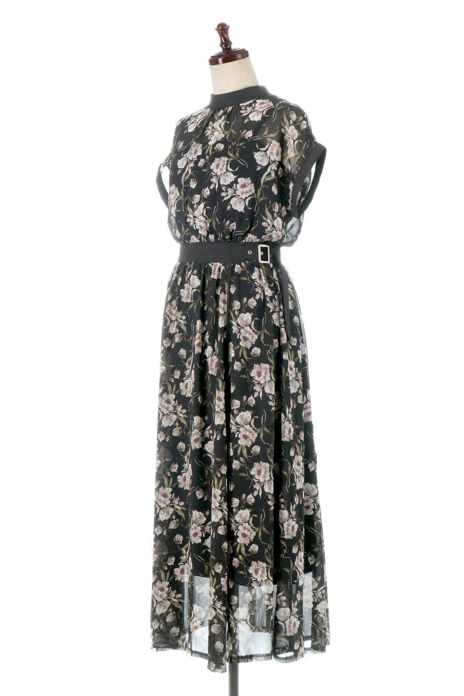 SideBeltFloralLongDress花柄・サイドベルトワンピース大人カジュアルに最適な海外ファッションのothers(その他インポートアイテム)のワンピースやマキシワンピース。軽やかな透け感が楽しめる花柄のロングワンピース。ウエストにベルトを施しエッジを効かせ、ハイウエストの切替で下半身がスラッと見えます。/main-1