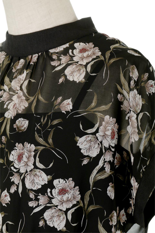 SideBeltFloralLongDress花柄・サイドベルトワンピース大人カジュアルに最適な海外ファッションのothers(その他インポートアイテム)のワンピースやマキシワンピース。軽やかな透け感が楽しめる花柄のロングワンピース。ウエストにベルトを施しエッジを効かせ、ハイウエストの切替で下半身がスラッと見えます。/main-11