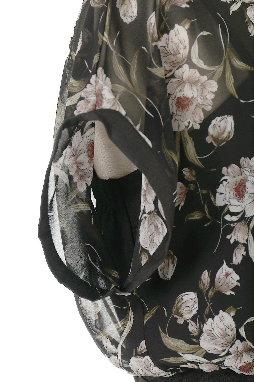 SideBeltFloralLongDress花柄・サイドベルトワンピース大人カジュアルに最適な海外ファッションのothers(その他インポートアイテム)のワンピースやマキシワンピース。軽やかな透け感が楽しめる花柄のロングワンピース。ウエストにベルトを施しエッジを効かせ、ハイウエストの切替で下半身がスラッと見えます。/main-15