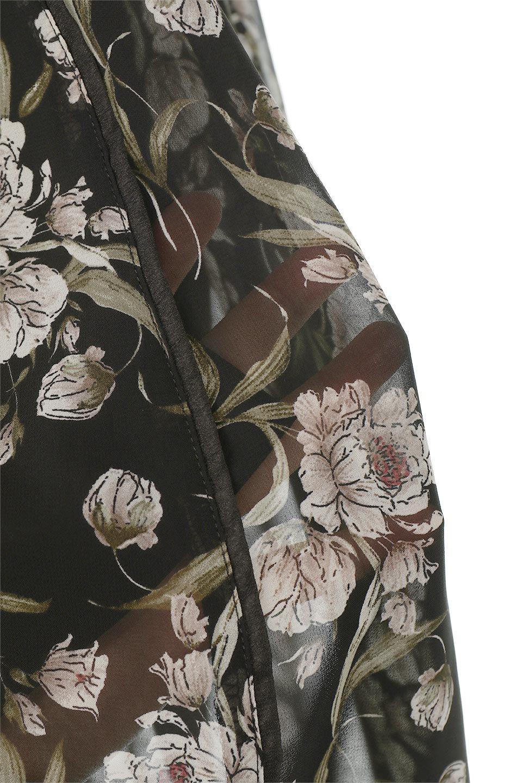SideBeltFloralLongDress花柄・サイドベルトワンピース大人カジュアルに最適な海外ファッションのothers(その他インポートアイテム)のワンピースやマキシワンピース。軽やかな透け感が楽しめる花柄のロングワンピース。ウエストにベルトを施しエッジを効かせ、ハイウエストの切替で下半身がスラッと見えます。/main-19