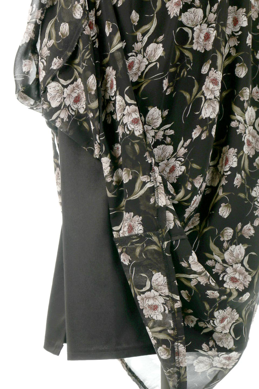 SideBeltFloralLongDress花柄・サイドベルトワンピース大人カジュアルに最適な海外ファッションのothers(その他インポートアイテム)のワンピースやマキシワンピース。軽やかな透け感が楽しめる花柄のロングワンピース。ウエストにベルトを施しエッジを効かせ、ハイウエストの切替で下半身がスラッと見えます。/main-20