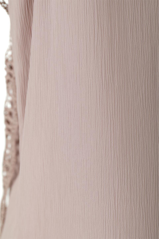 FrilledLaceFrenchSleeveBlouseフリルレース・フレンチスリーブブラウス大人カジュアルに最適な海外ファッションのothers(その他インポートアイテム)のトップスやカットソー。生地レースに2種類の繊細なケミカルレースを使用したフェミニンなブラウス。前の脇〜後身頃・袖には楊柳シフォンを使用しているので、さらりと着心地も良く、肩先の隠れるフレンチスリーブで着用しやすい1着です。/main-23