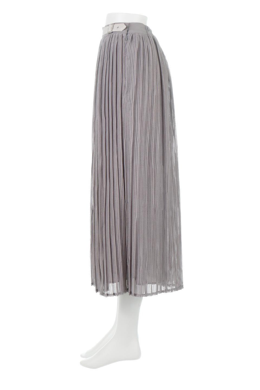 MeshPleatLayeredSkirtメッシュプリーツ・レイヤードスカート大人カジュアルに最適な海外ファッションのothers(その他インポートアイテム)のボトムやスカート。スタイリングのメインになるデザインスカート。繊細なメッシュ素材を使用し、立体的なプリーツが織りなす華やかなスカートです。/main-2