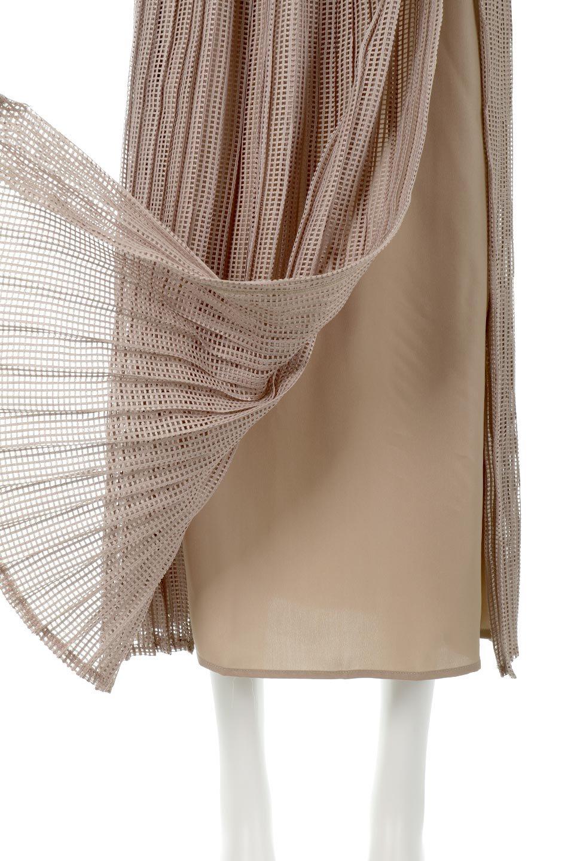 MeshPleatLayeredSkirtメッシュプリーツ・レイヤードスカート大人カジュアルに最適な海外ファッションのothers(その他インポートアイテム)のボトムやスカート。スタイリングのメインになるデザインスカート。繊細なメッシュ素材を使用し、立体的なプリーツが織りなす華やかなスカートです。/main-25