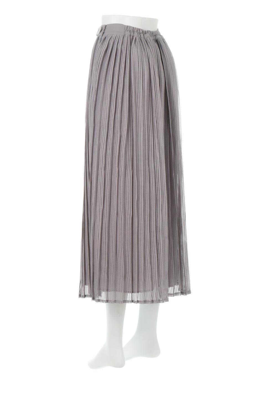 MeshPleatLayeredSkirtメッシュプリーツ・レイヤードスカート大人カジュアルに最適な海外ファッションのothers(その他インポートアイテム)のボトムやスカート。スタイリングのメインになるデザインスカート。繊細なメッシュ素材を使用し、立体的なプリーツが織りなす華やかなスカートです。/main-3