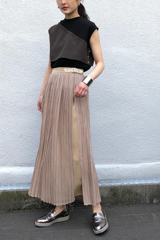 MeshPleatLayeredSkirtメッシュプリーツ・レイヤードスカート大人カジュアルに最適な海外ファッションのothers(その他インポートアイテム)のボトムやスカート。スタイリングのメインになるデザインスカート。繊細なメッシュ素材を使用し、立体的なプリーツが織りなす華やかなスカートです。/main-31