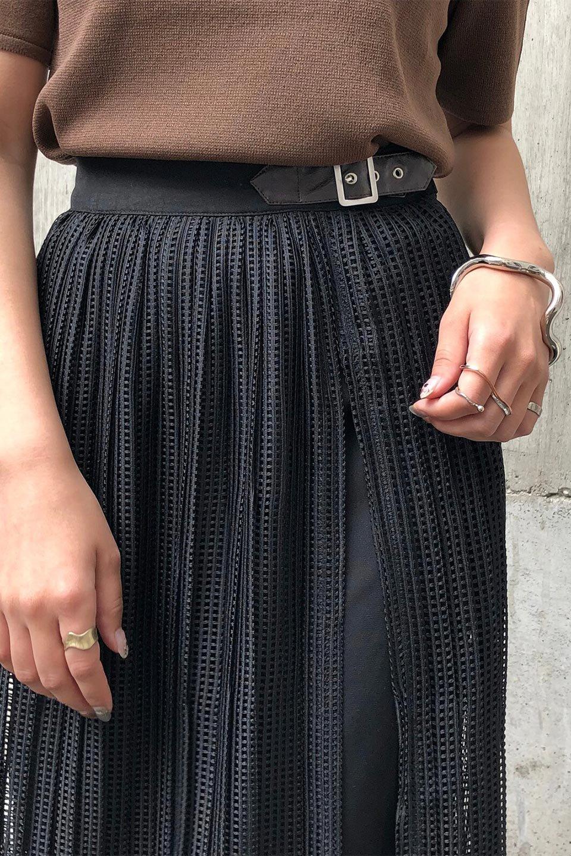 MeshPleatLayeredSkirtメッシュプリーツ・レイヤードスカート大人カジュアルに最適な海外ファッションのothers(その他インポートアイテム)のボトムやスカート。スタイリングのメインになるデザインスカート。繊細なメッシュ素材を使用し、立体的なプリーツが織りなす華やかなスカートです。/main-32
