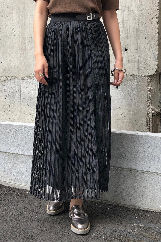 MeshPleatLayeredSkirtメッシュプリーツ・レイヤードスカート大人カジュアルに最適な海外ファッションのothers(その他インポートアイテム)のボトムやスカート。スタイリングのメインになるデザインスカート。繊細なメッシュ素材を使用し、立体的なプリーツが織りなす華やかなスカートです。/main-33