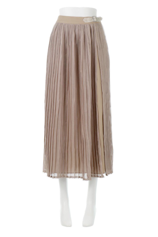 MeshPleatLayeredSkirtメッシュプリーツ・レイヤードスカート大人カジュアルに最適な海外ファッションのothers(その他インポートアイテム)のボトムやスカート。スタイリングのメインになるデザインスカート。繊細なメッシュ素材を使用し、立体的なプリーツが織りなす華やかなスカートです。/main-5