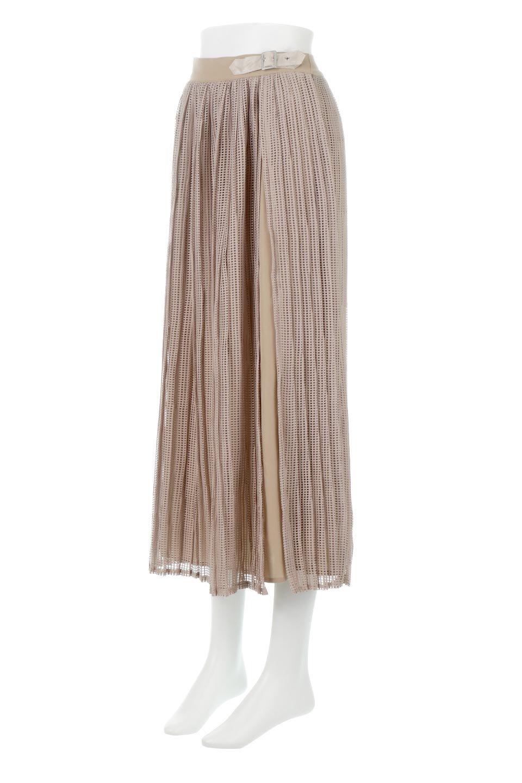 MeshPleatLayeredSkirtメッシュプリーツ・レイヤードスカート大人カジュアルに最適な海外ファッションのothers(その他インポートアイテム)のボトムやスカート。スタイリングのメインになるデザインスカート。繊細なメッシュ素材を使用し、立体的なプリーツが織りなす華やかなスカートです。/main-6