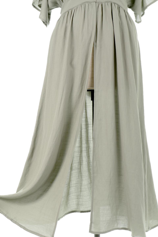 BackRibbonTiedGownDressバックリボンガ・ウンワンピース大人カジュアルに最適な海外ファッションのothers(その他インポートアイテム)のワンピースやマキシワンピース。大きめのフレンチスリーブが可愛いガウンワンピース。フロントボタンは閉じても開けても楽しめます。/main-21