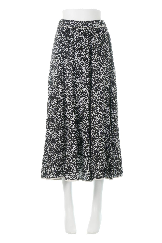 PipingHemLeopardFlareSkirtレオパード・フレアボリュームスカート大人カジュアルに最適な海外ファッションのothers(その他インポートアイテム)のボトムやスカート。動くたびにゆれるシルエットが美しいレオパード柄のフレアースカート。スカート部分に切り替えが斜めにはいっており、ナチュラルなマーメイドシルエットが美しいスカートです。