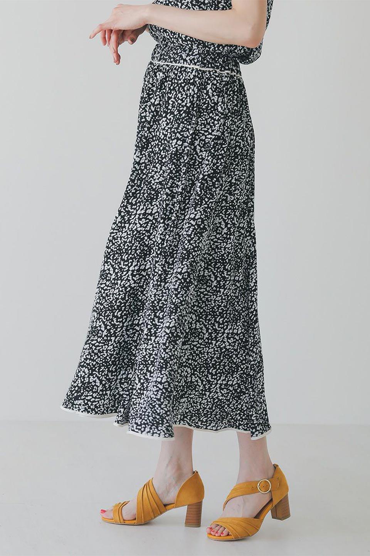 PipingHemLeopardFlareSkirtレオパード・フレアボリュームスカート大人カジュアルに最適な海外ファッションのothers(その他インポートアイテム)のボトムやスカート。動くたびにゆれるシルエットが美しいレオパード柄のフレアースカート。スカート部分に切り替えが斜めにはいっており、ナチュラルなマーメイドシルエットが美しいスカートです。/main-14
