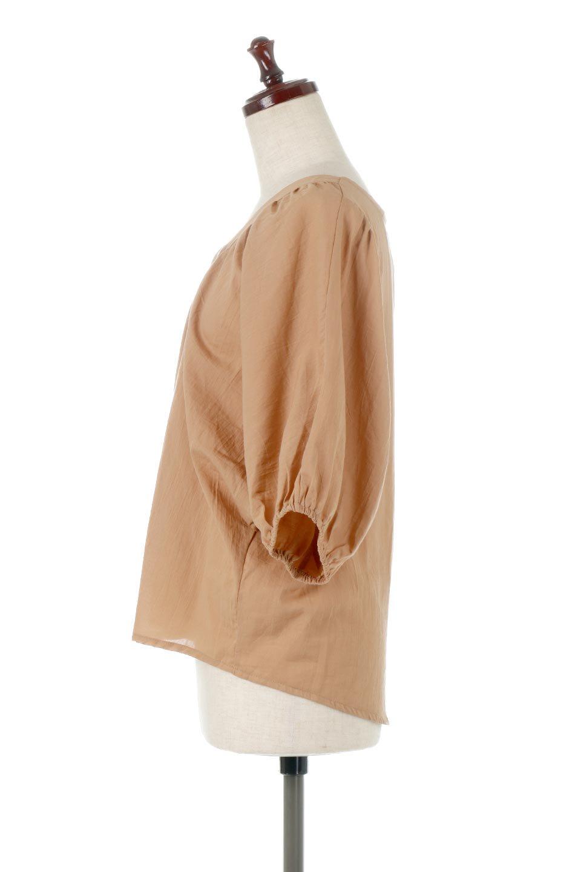 VoluminousSleeveBlouseボリュームスリーブ・ブラウス大人カジュアルに最適な海外ファッションのothers(その他インポートアイテム)のトップスやシャツ・ブラウス。ボリュームがありながらも軽やかな素材で清涼感溢れるエアリーブラウス。綿100%の素材を使用しているので着心地も良くストレスフリーのトップスです。/main-2