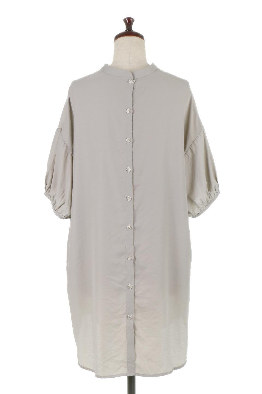 BackButtonKey-NeckLongBlouseキーネック・ロングブラウス大人カジュアルに最適な海外ファッションのothers(その他インポートアイテム)のトップスやシャツ・ブラウス。注目のキーネック仕様のロングブラウス。後ろのボタンを少し外せば、こなれ感も増してオシャレ度アップ。/main-19