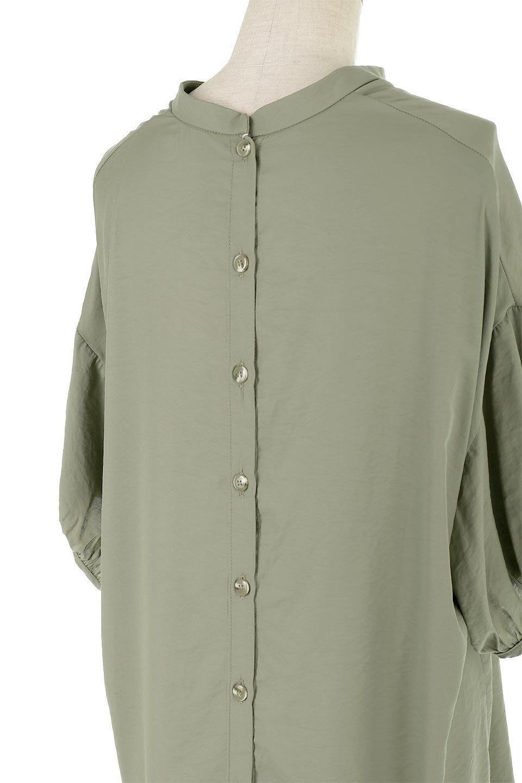 BackButtonKey-NeckLongBlouseキーネック・ロングブラウス大人カジュアルに最適な海外ファッションのothers(その他インポートアイテム)のトップスやシャツ・ブラウス。注目のキーネック仕様のロングブラウス。後ろのボタンを少し外せば、こなれ感も増してオシャレ度アップ。/main-24