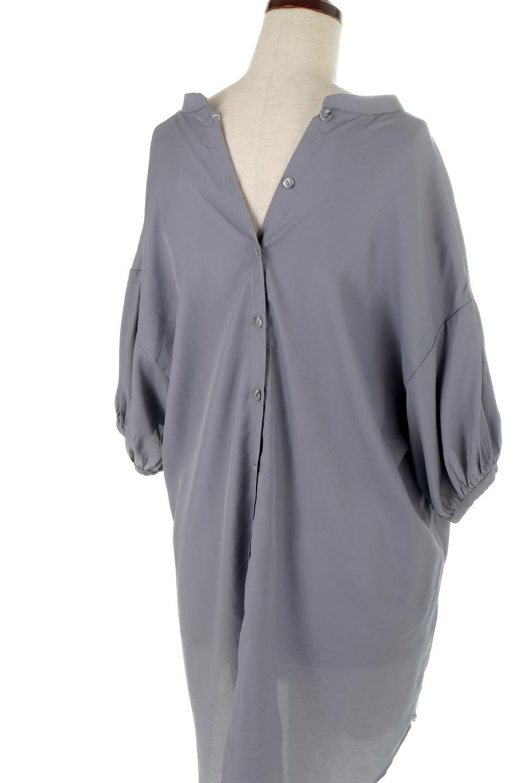 BackButtonKey-NeckLongBlouseキーネック・ロングブラウス大人カジュアルに最適な海外ファッションのothers(その他インポートアイテム)のトップスやシャツ・ブラウス。注目のキーネック仕様のロングブラウス。後ろのボタンを少し外せば、こなれ感も増してオシャレ度アップ。/main-29