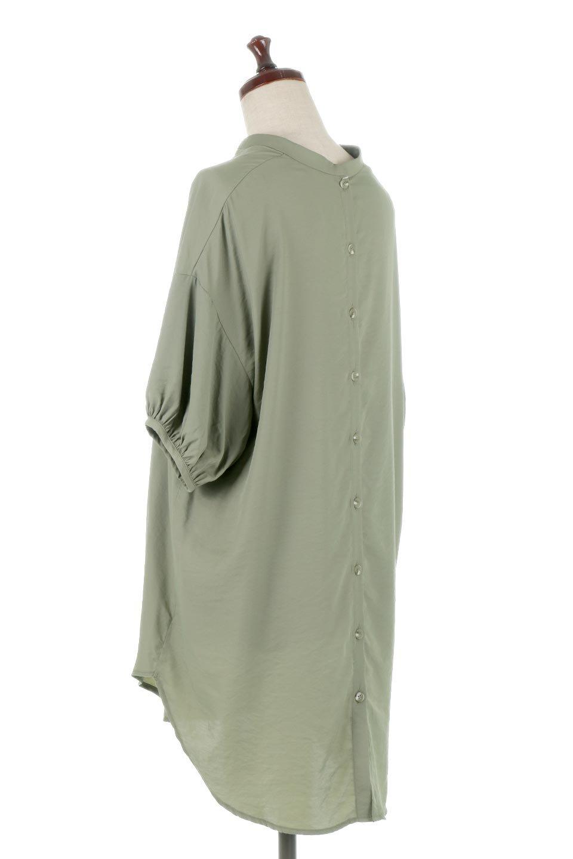 BackButtonKey-NeckLongBlouseキーネック・ロングブラウス大人カジュアルに最適な海外ファッションのothers(その他インポートアイテム)のトップスやシャツ・ブラウス。注目のキーネック仕様のロングブラウス。後ろのボタンを少し外せば、こなれ感も増してオシャレ度アップ。/main-8