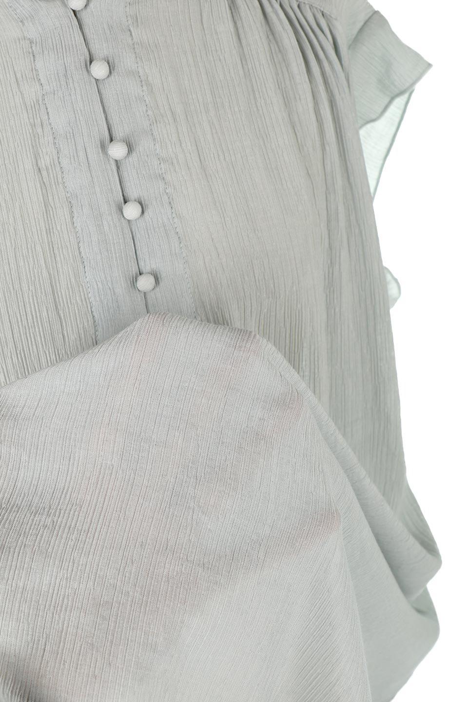 BandCollarFrillSleeveBlouseフリルスリーブ・バンドカラーブラウス大人カジュアルに最適な海外ファッションのothers(その他インポートアイテム)のトップスやシャツ・ブラウス。夏にピッタリの素材を使用したゆったりシルエットのブラウス。きちっとした印象のバンドカラーですが、ボタンの外し具合でカジュアル感を調節できます。/main-28