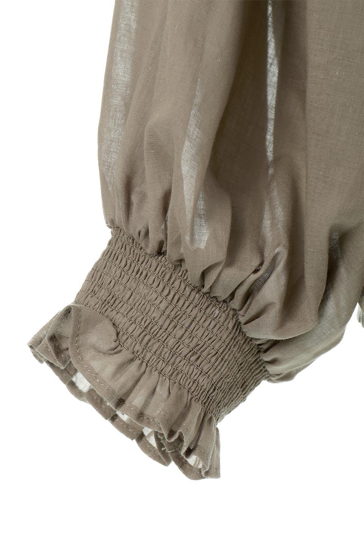 BalloonSleeveSemiSheerBlouseバルーンスリーブ・シアーブラウス大人カジュアルに最適な海外ファッションのothers(その他インポートアイテム)のトップスやシャツ・ブラウス。ボリュームのある袖が特徴的なトレンド感のあるブラウス。胸元と肩には生地を寄せながら柄を作っており、柔らかいイメージを表現しています。/main-11