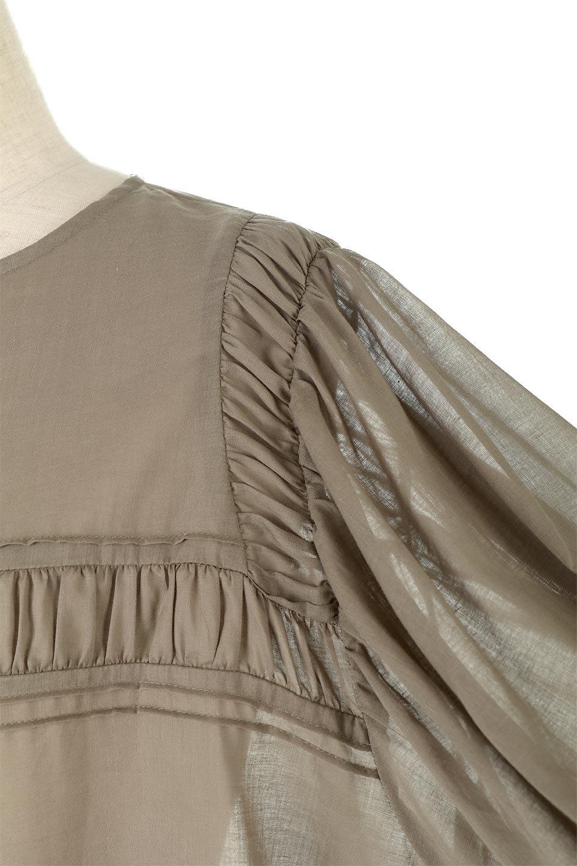 BalloonSleeveSemiSheerBlouseバルーンスリーブ・シアーブラウス大人カジュアルに最適な海外ファッションのothers(その他インポートアイテム)のトップスやシャツ・ブラウス。ボリュームのある袖が特徴的なトレンド感のあるブラウス。胸元と肩には生地を寄せながら柄を作っており、柔らかいイメージを表現しています。/main-9