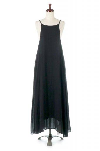海外ファッションや大人カジュアルに最適なインポートセレクトアイテムのBack Gathered Long Cami Dress バックギャザー・キャミマキシワンピース