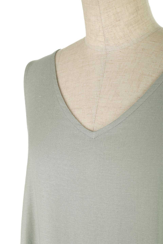 BlockHemSleevelessDressノースリーブ・フレアーワンピース大人カジュアルに最適な海外ファッションのothers(その他インポートアイテム)のワンピースやマキシワンピース。歩くたびに可愛く揺れるフレアーな裾で大人可愛いが完成するマキシワンピ。ゆとりのあるIラインのフォルムに立体的に切り替えを入れ動きが出るシルエット。/main-11