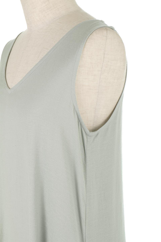 BlockHemSleevelessDressノースリーブ・フレアーワンピース大人カジュアルに最適な海外ファッションのothers(その他インポートアイテム)のワンピースやマキシワンピース。歩くたびに可愛く揺れるフレアーな裾で大人可愛いが完成するマキシワンピ。ゆとりのあるIラインのフォルムに立体的に切り替えを入れ動きが出るシルエット。/main-12