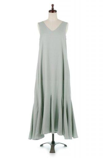 海外ファッションや大人カジュアルに最適なインポートセレクトアイテムのBlock Hem Sleeveless Dress ノースリーブ・フレアーワンピース