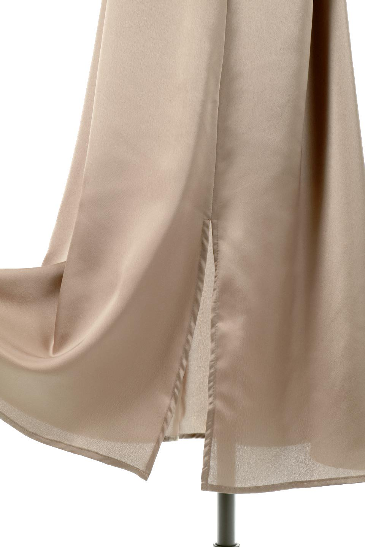 BackGatheredLongSatinDressバックギャザー・サテンキャミワンピース大人カジュアルに最適な海外ファッションのothers(その他インポートアイテム)のワンピースやマキシワンピース。なめらかな光沢が美しいサテン生地のマキシワンピース。膝丈の裏地付きでまとわりつきを軽減。/main-14