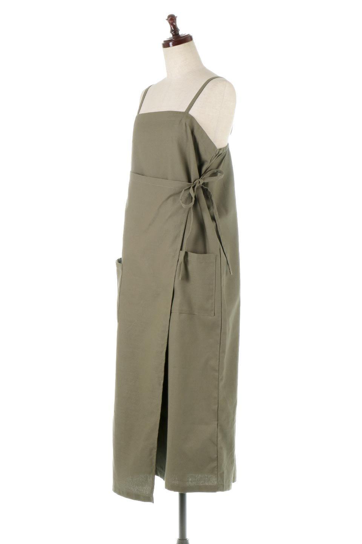 CottonWrapLongDressコットンツイル・ラップワンピース大人カジュアルに最適な海外ファッションのothers(その他インポートアイテム)のワンピースやマキシワンピース。ナチュラルなコットン素材の風合いを生かしたポケット付きのワンピース。ラップ部分がエプロン風で、おしゃれなカフェのスタッフさんのような雰囲気もあります。/main-1
