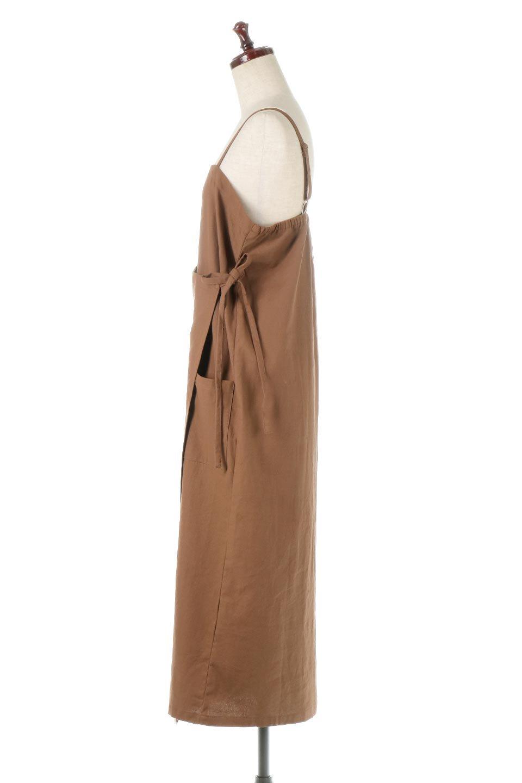 CottonWrapLongDressコットンツイル・ラップワンピース大人カジュアルに最適な海外ファッションのothers(その他インポートアイテム)のワンピースやマキシワンピース。ナチュラルなコットン素材の風合いを生かしたポケット付きのワンピース。ラップ部分がエプロン風で、おしゃれなカフェのスタッフさんのような雰囲気もあります。/main-12