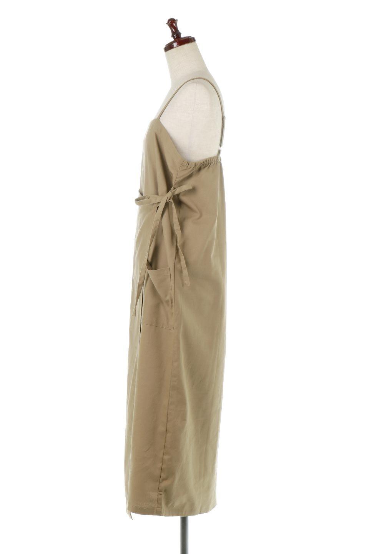 CottonWrapLongDressコットンツイル・ラップワンピース大人カジュアルに最適な海外ファッションのothers(その他インポートアイテム)のワンピースやマキシワンピース。ナチュラルなコットン素材の風合いを生かしたポケット付きのワンピース。ラップ部分がエプロン風で、おしゃれなカフェのスタッフさんのような雰囲気もあります。/main-17