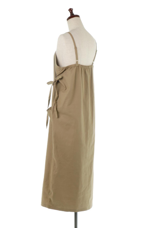 CottonWrapLongDressコットンツイル・ラップワンピース大人カジュアルに最適な海外ファッションのothers(その他インポートアイテム)のワンピースやマキシワンピース。ナチュラルなコットン素材の風合いを生かしたポケット付きのワンピース。ラップ部分がエプロン風で、おしゃれなカフェのスタッフさんのような雰囲気もあります。/main-18