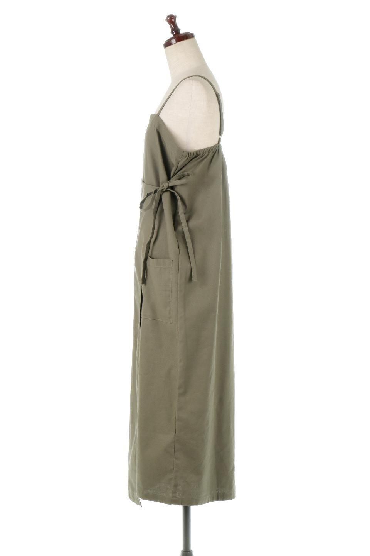 CottonWrapLongDressコットンツイル・ラップワンピース大人カジュアルに最適な海外ファッションのothers(その他インポートアイテム)のワンピースやマキシワンピース。ナチュラルなコットン素材の風合いを生かしたポケット付きのワンピース。ラップ部分がエプロン風で、おしゃれなカフェのスタッフさんのような雰囲気もあります。/main-2
