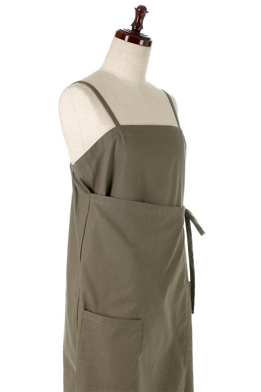 CottonWrapLongDressコットンツイル・ラップワンピース大人カジュアルに最適な海外ファッションのothers(その他インポートアイテム)のワンピースやマキシワンピース。ナチュラルなコットン素材の風合いを生かしたポケット付きのワンピース。ラップ部分がエプロン風で、おしゃれなカフェのスタッフさんのような雰囲気もあります。/main-20