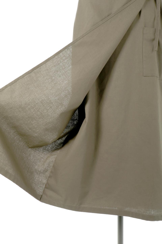 CottonWrapLongDressコットンツイル・ラップワンピース大人カジュアルに最適な海外ファッションのothers(その他インポートアイテム)のワンピースやマキシワンピース。ナチュラルなコットン素材の風合いを生かしたポケット付きのワンピース。ラップ部分がエプロン風で、おしゃれなカフェのスタッフさんのような雰囲気もあります。/main-24