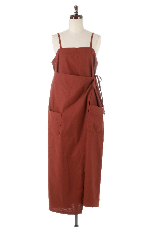 CottonWrapLongDressコットンツイル・ラップワンピース大人カジュアルに最適な海外ファッションのothers(その他インポートアイテム)のワンピースやマキシワンピース。ナチュラルなコットン素材の風合いを生かしたポケット付きのワンピース。ラップ部分がエプロン風で、おしゃれなカフェのスタッフさんのような雰囲気もあります。/main-5