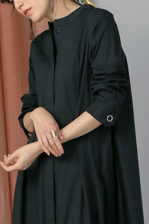 CollarlessFlareDressノーカラー・フルオープンワンピース大人カジュアルに最適な海外ファッションのothers(その他インポートアイテム)のワンピースやマキシワンピース。ノーカラーデザインとフレアシルエットが美しい無地ワンピース。切替でフレアに広がったラインが美しいワンピース。/main-22